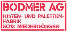 Bodmer AG, Kisten- und Palettenfabrik in Niedergösgen